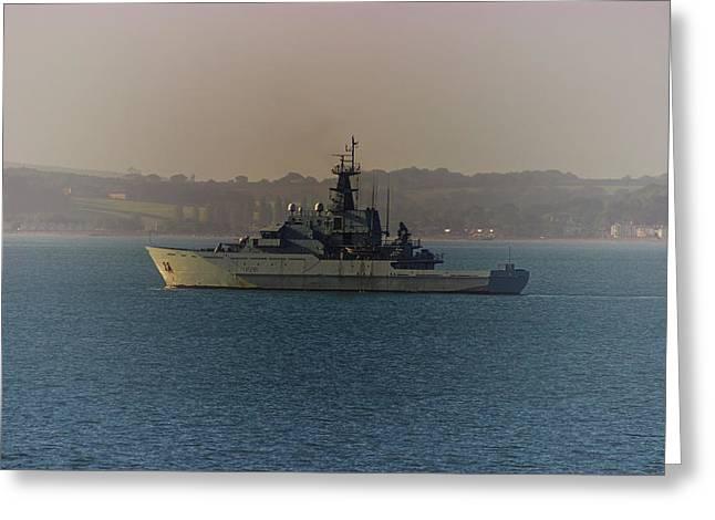 Warship Greeting Card by Martin Newman