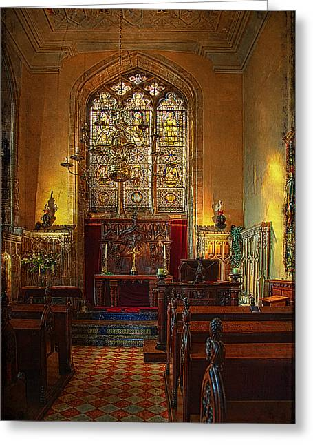 Warwick Greeting Cards - Warwick Castle Chapel Greeting Card by Chris Lord