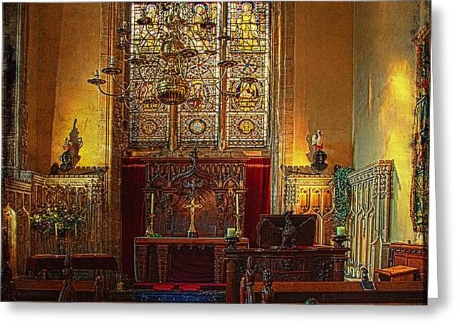 Warwick Castle Chapel Greeting Card by Chris Lord