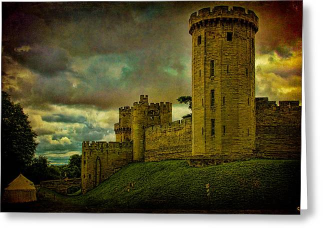 Warwick Castle Greeting Card by Chris Lord
