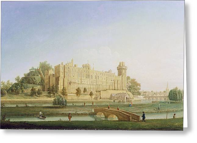 Punting Greeting Cards - Warwick Castle Greeting Card by Francis Harding