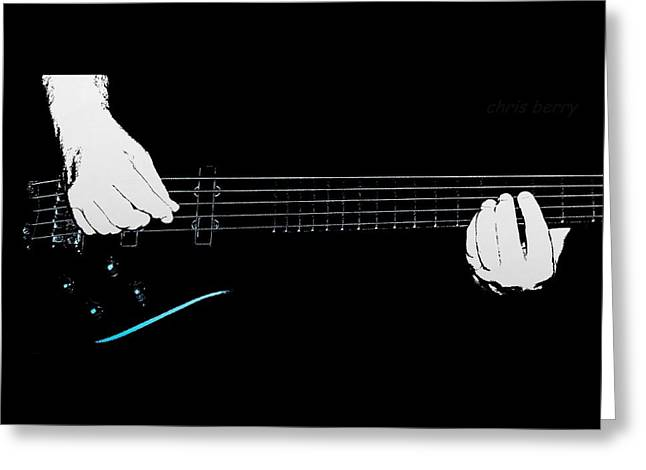Warwick Five String Bass Greeting Card by Chris Berry