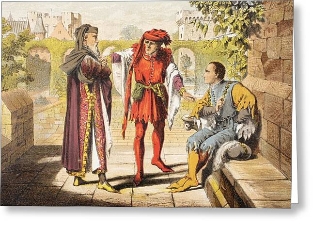 Warwick Greeting Cards - Warwick Speaks In King Henry Vi Act Ii Greeting Card by Ken Welsh