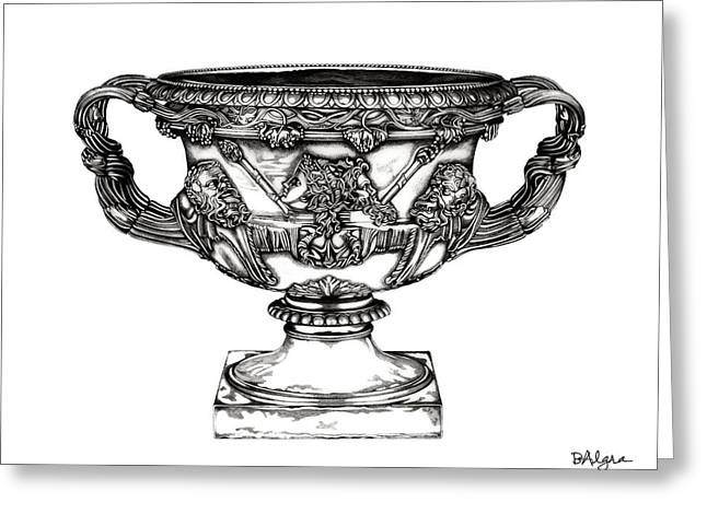Warwick Sculptures Greeting Cards - Warwick Vase _ V1 Greeting Card by Bruce Algra