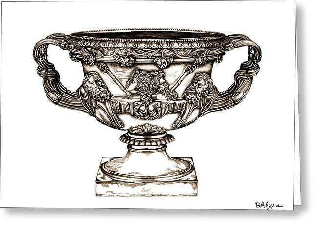 Warwick Sculptures Greeting Cards - Warwick Vase _ V2 Greeting Card by Bruce Algra