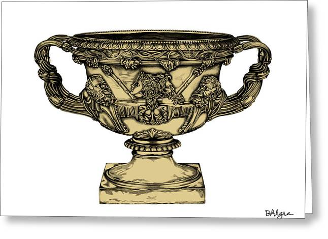 Warwick Sculptures Greeting Cards - Warwick Vase _ V4 Greeting Card by Bruce Algra