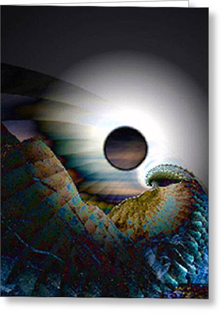 Fractal Eclipse Greeting Cards - Was It Wonder Greeting Card by Rebecca Phillips