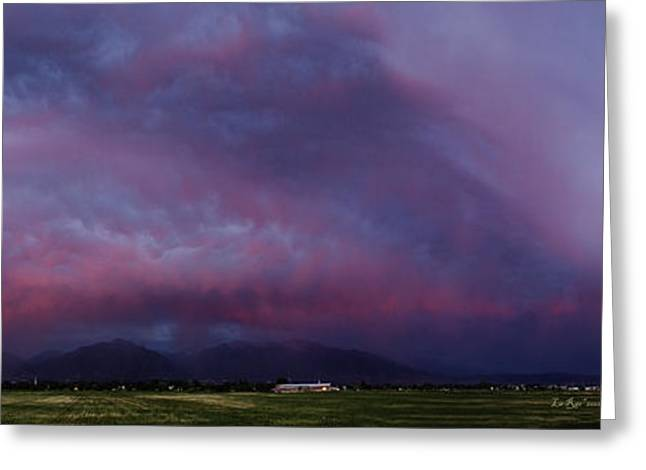 Slc Photographs Greeting Cards - Wasatch Mountain Sunset Greeting Card by La Rae  Roberts