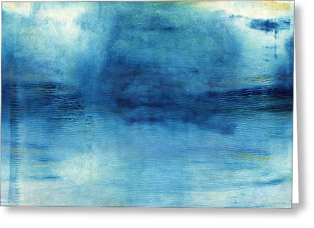 Barrel Mixed Media Greeting Cards - Wash Away- Abstract Art by Linda Woods Greeting Card by Linda Woods