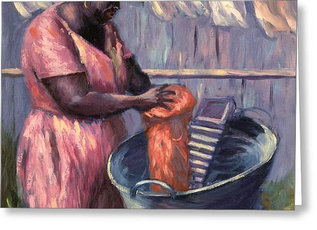 Wash Day Greeting Card by Carlton Murrell