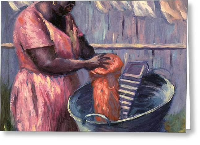 Drying Rack Greeting Cards - Wash Day Greeting Card by Carlton Murrell