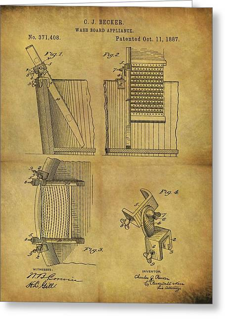 Washboard Patent Greeting Card by Dan Sproul