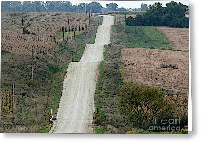 Wash Boards Greeting Cards - Washboard road Greeting Card by David Bearden