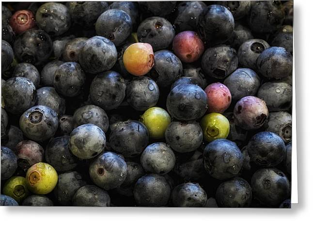 Moist Greeting Cards - Washed Blueberries Greeting Card by James Barber