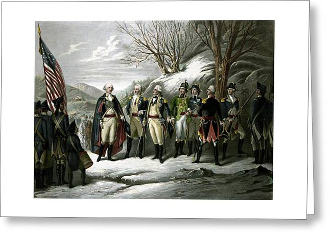 4th July Greeting Cards - Washington and His Generals  Greeting Card by War Is Hell Store