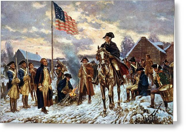 Washington At Valley Forge Greeting Card by Unknown
