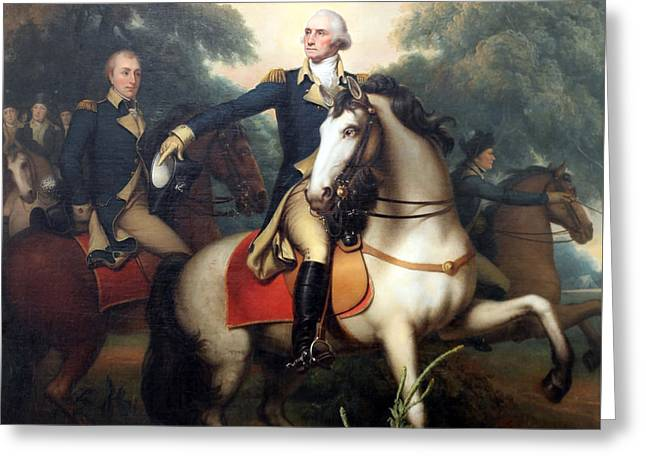 Photograph Of Painter Greeting Cards - Washington Before Yorktown By Rembrandt Peale Greeting Card by Cora Wandel