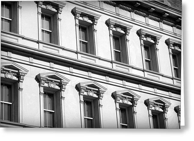 Eisenhower Greeting Cards - Washington Building Windows Greeting Card by Valentino Visentini