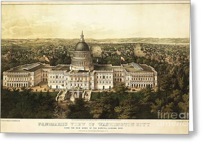 Democrat Photographs Greeting Cards - Washington City 1857 Greeting Card by Jon Neidert