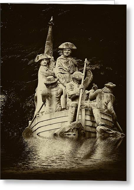 Battle Of Trenton Greeting Cards - Washington Crossing the Delaware Greeting Card by Bill Cannon