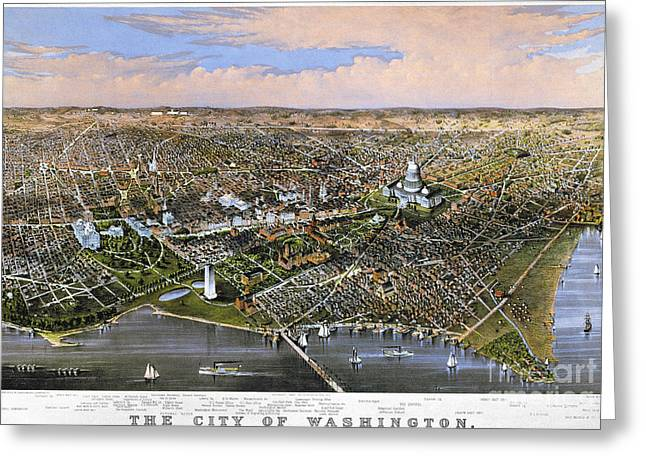 Washington, D.c., 1880 Greeting Card by Granger