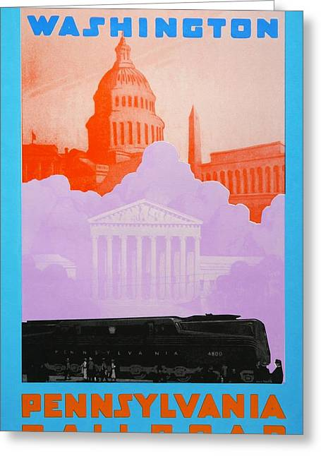Pa Drawings Greeting Cards - Washington DC Greeting Card by David Studwell