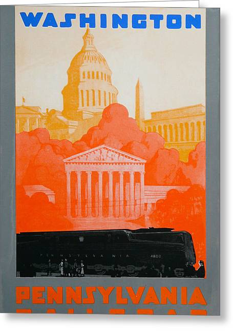 Pa Drawings Greeting Cards - Washington DC III Greeting Card by David Studwell