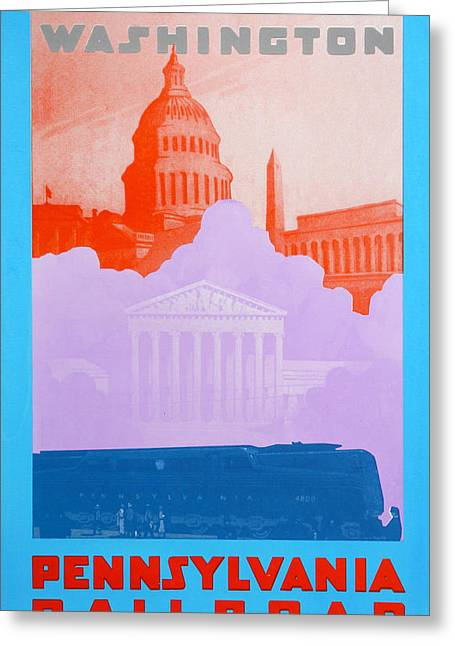 Pa Drawings Greeting Cards - Washington DC IV Greeting Card by David Studwell