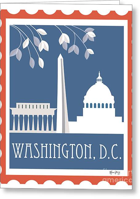 City Skylines Greeting Cards Greeting Cards - Washington D.C. Greeting Card by Karen Young