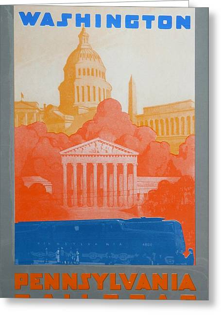 Pa Drawings Greeting Cards - Washington DC V Greeting Card by David Studwell
