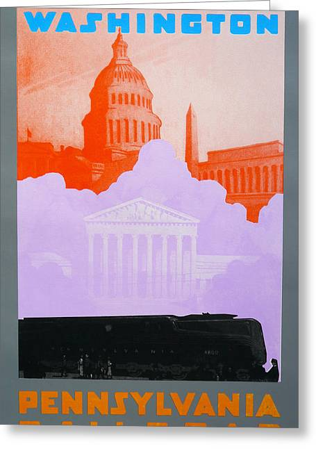 Pa Drawings Greeting Cards - Washington DC VI Greeting Card by David Studwell