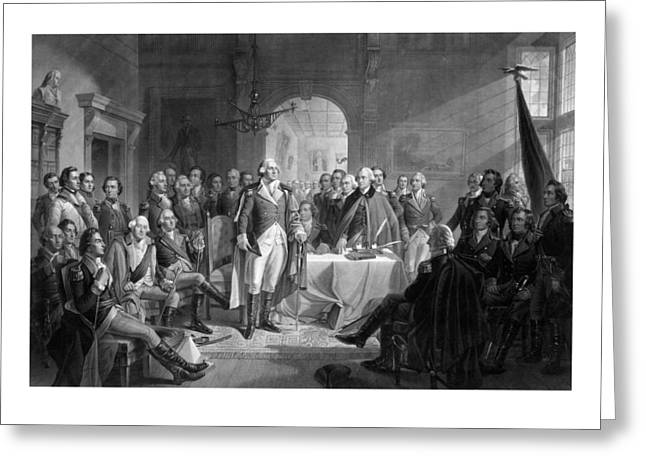Continental Greeting Cards - Washington Meeting His Generals Greeting Card by War Is Hell Store
