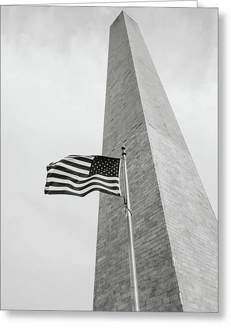 Washington Memorial Greeting Card by Brandon Bourdages