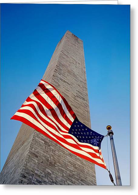 4th July Photographs Greeting Cards - Washington Monument Greeting Card by Ilker Goksen