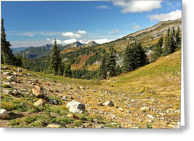 Washington Mountain Landscape Greeting Card by Adam Jewell