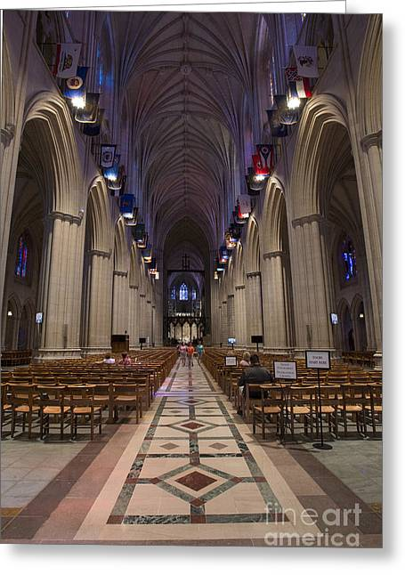 Woodrow Greeting Cards - Washington National Cathedral Greeting Card by David Bearden