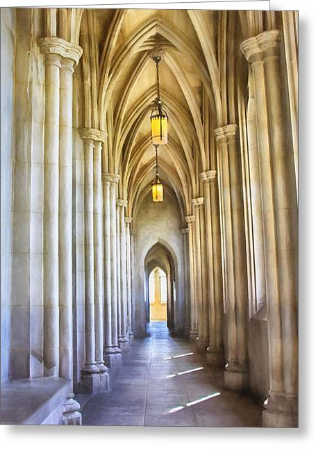 Kim Photographs Greeting Cards - Washington National Cathedral Greeting Card by Kim Hojnacki