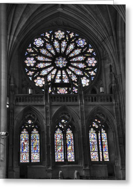 Religion Greeting Cards - Washington National Cathedral  v3s Greeting Card by John Straton