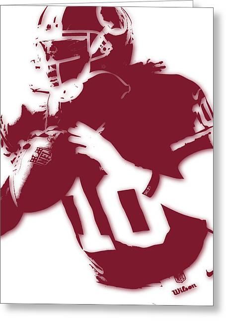 Washington Redskins Robert Griffin Jr Greeting Card by Joe Hamilton
