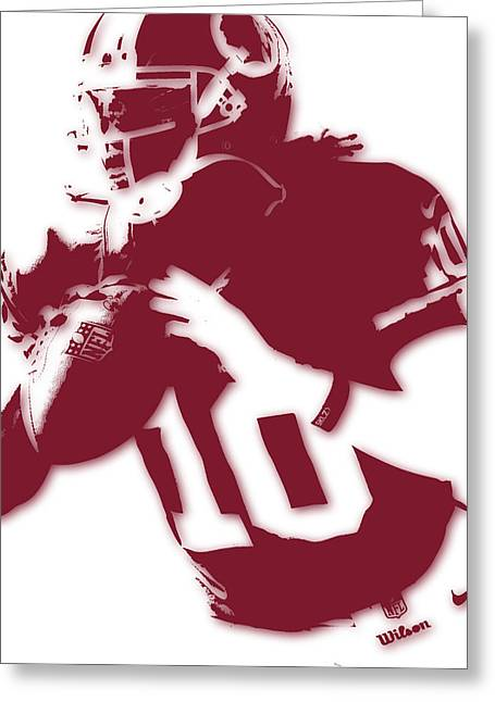 Griffin Greeting Cards - Washington Redskins Robert Griffin Jr Greeting Card by Joe Hamilton