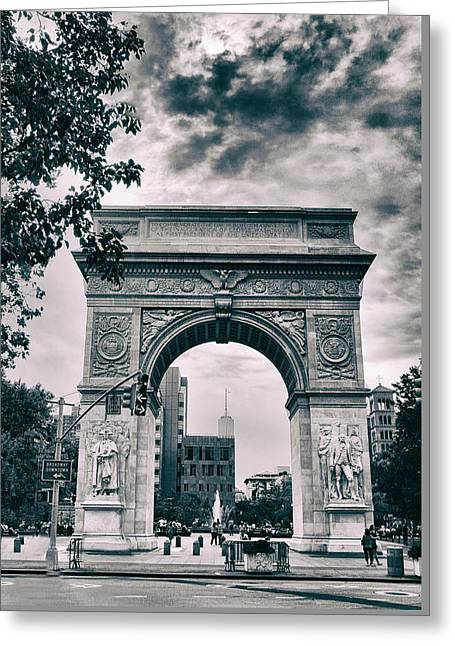Washington Square Arch Greeting Card by Jessica Jenney