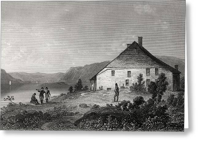 Black American Drawings Greeting Cards - Washingtons Headquarters Near Newburgh Greeting Card by Ken Welsh