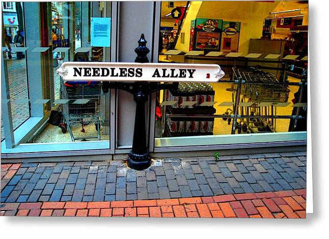 Needless Alley Greeting Cards - Waste of Space Greeting Card by Roberto Alamino