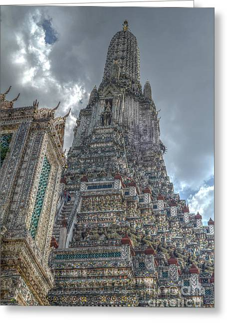 Michelle Greeting Cards - Wat Arun Greeting Card by Michelle Meenawong
