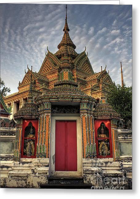 Cha Greeting Cards - Wat pho Greeting Card by Buchachon Petthanya