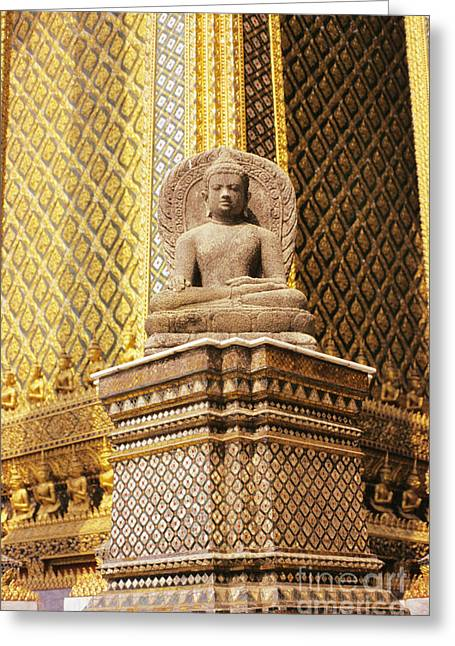 Architecture Textured Art Greeting Cards - Wat Phra Kaew Greeting Card by Gloria and Richard Maschmeyer - Printscapes