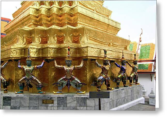 Rama Greeting Cards - Wat Po Bangkok Thailand 1 Greeting Card by Douglas Barnett