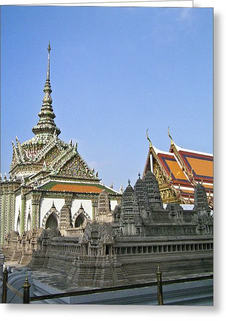 Rama Greeting Cards - Wat Po Bangkok Thailand 10 Greeting Card by Douglas Barnett