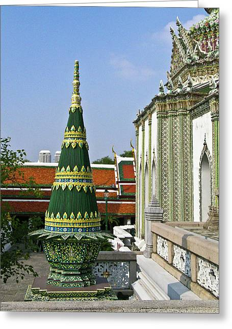 Rama Greeting Cards - Wat Po Bangkok Thailand 11 Greeting Card by Douglas Barnett