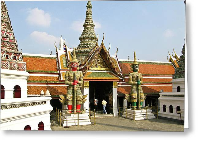 Rama Greeting Cards - Wat Po Bangkok Thailand 16 Greeting Card by Douglas Barnett